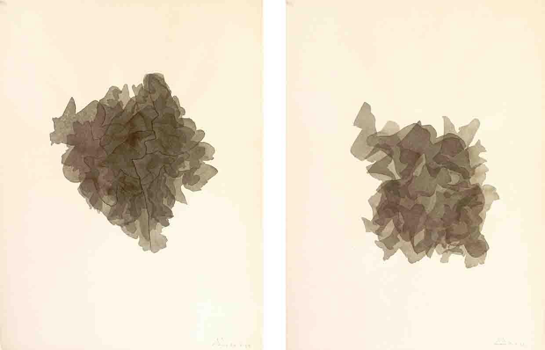 ALBERT AYME - Aquarelles Monochromatiques - Une morphogenèse - 1962