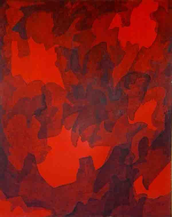 ALBERT AYME - Toile Monochromatique - 1963