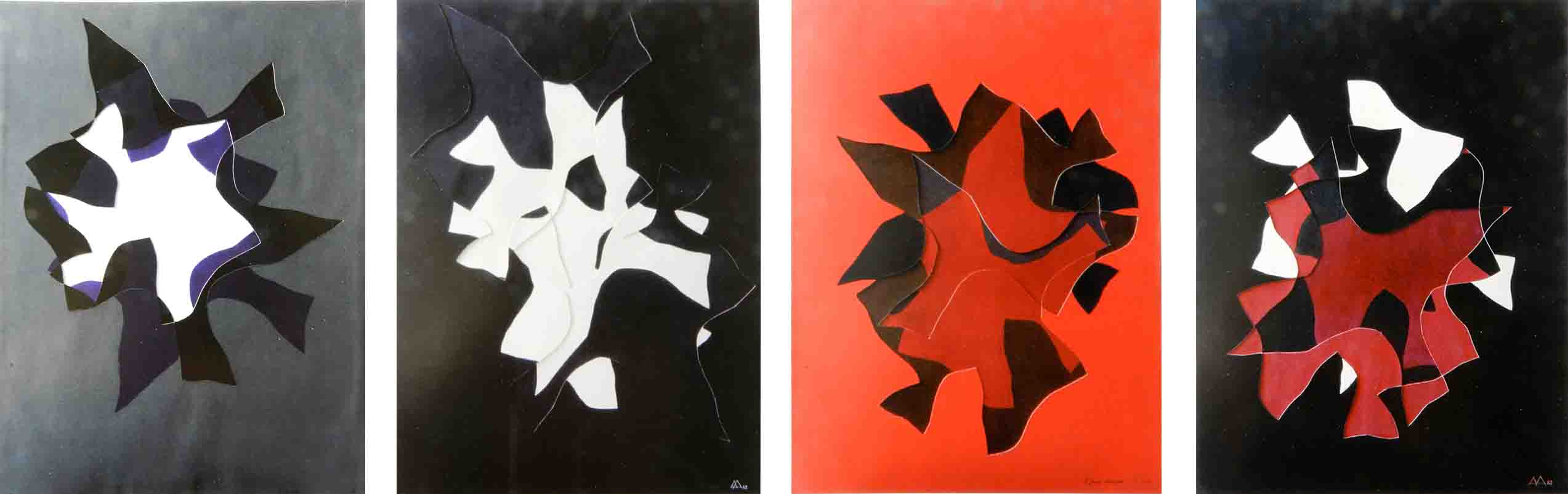 ALBERT AYME - Reliefs Soustractifs - Auto-phanie - 1962