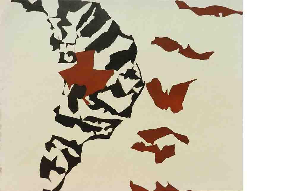 ALBERT AYME - Drap Mural n° 9 - Toile Libre - 1962