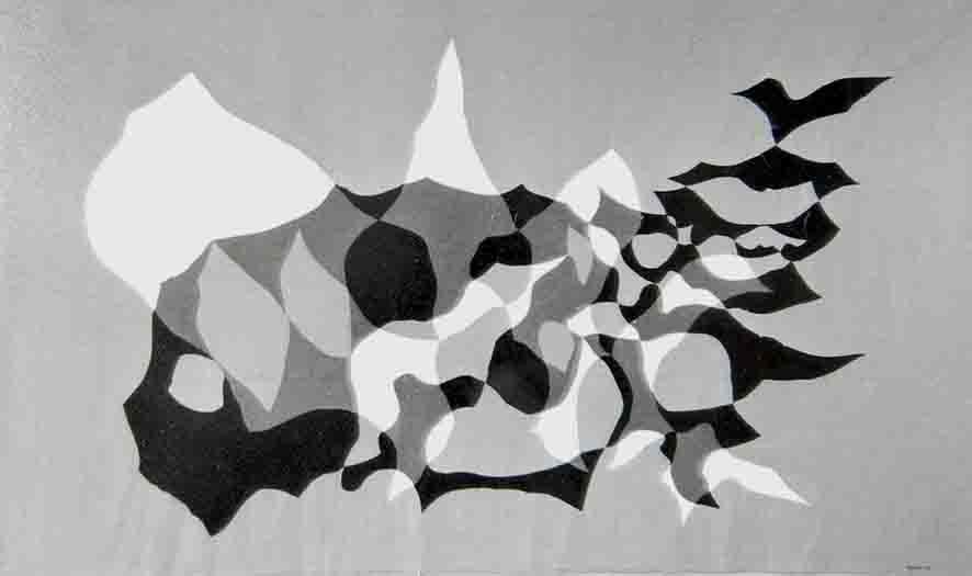 ALBERT AYME - Drap Mural n° 13 - Toile Libre - 1975