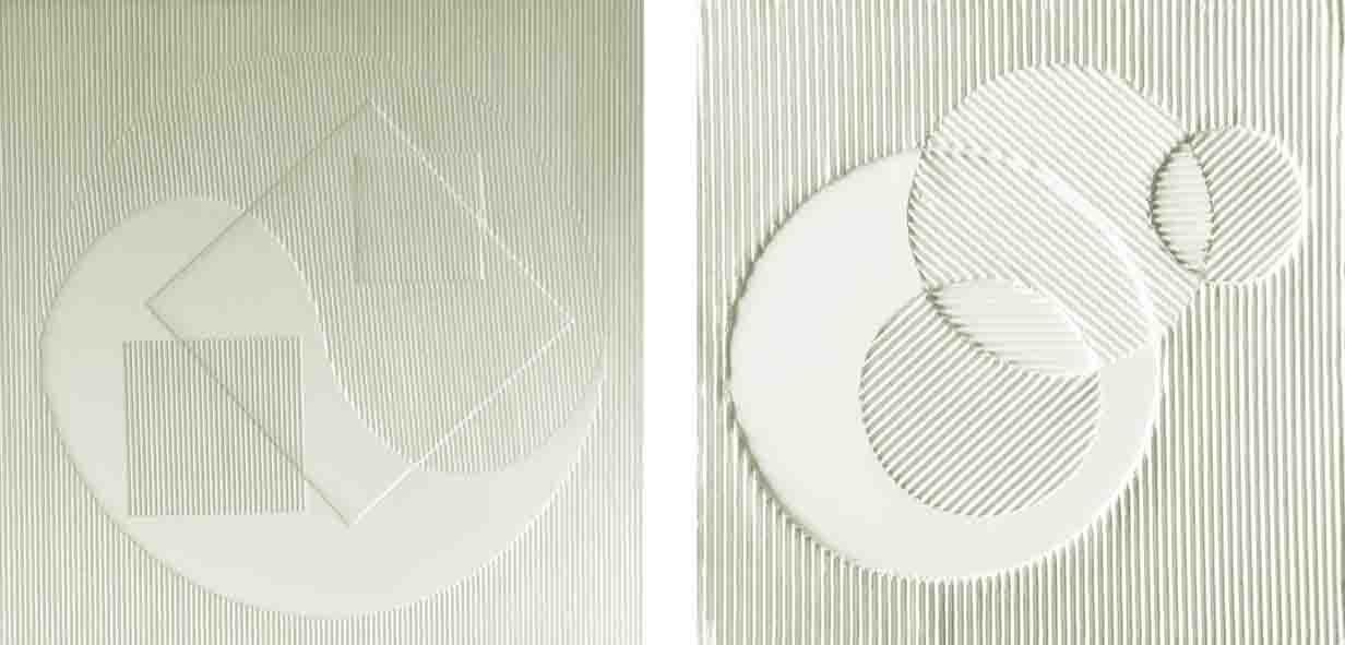 ALBERT AYME - Hommage à Malevitch - Monochromes Blancs - 1967