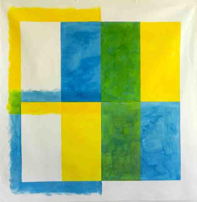 ALBERT AYME - Paradigme du Bleu et Jaune - 1975