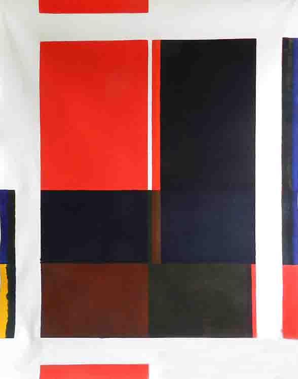 ALBERT AYME - Paradigme du Bleu Jaune Rouge - 1980
