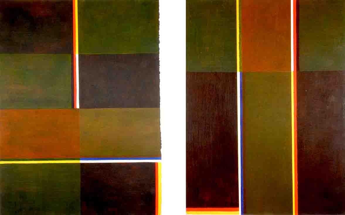 ALBERT AYME - Paradigme du Bleu Jaune Rouge - Tresse des 3 primaires - 1977
