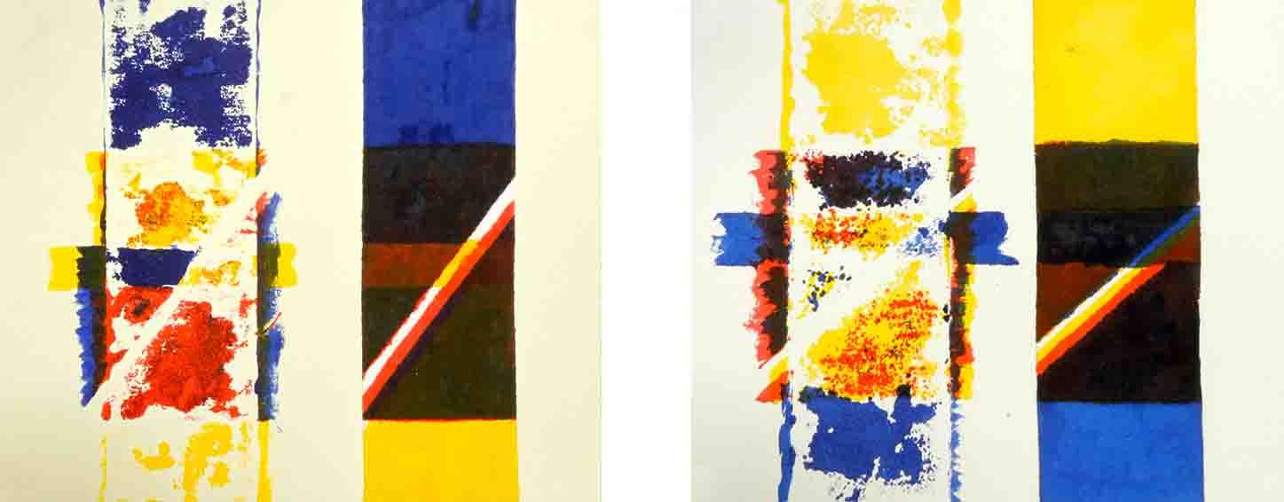 ALBERT AYME - Suite des Trois Mémoires - 3 temps peints - 1979