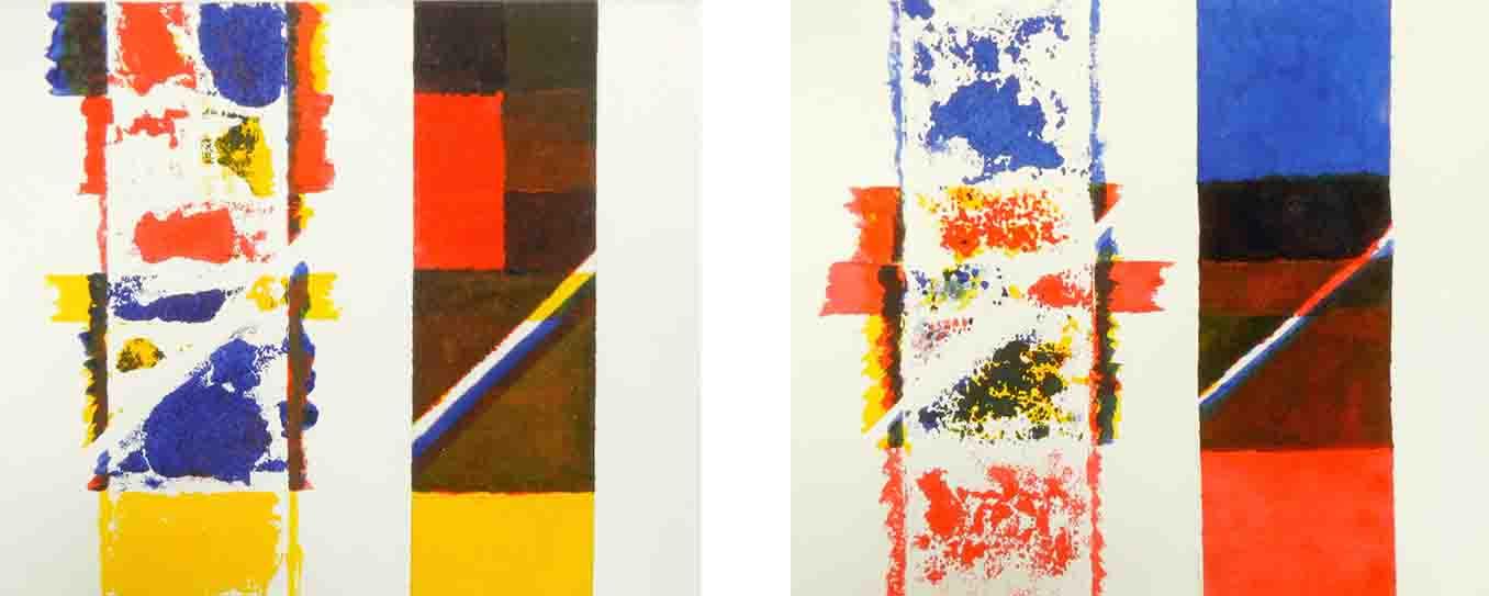 ALBERT AYME - Suite des Trois Mémoires - 3 temps peints - 1979, 1980