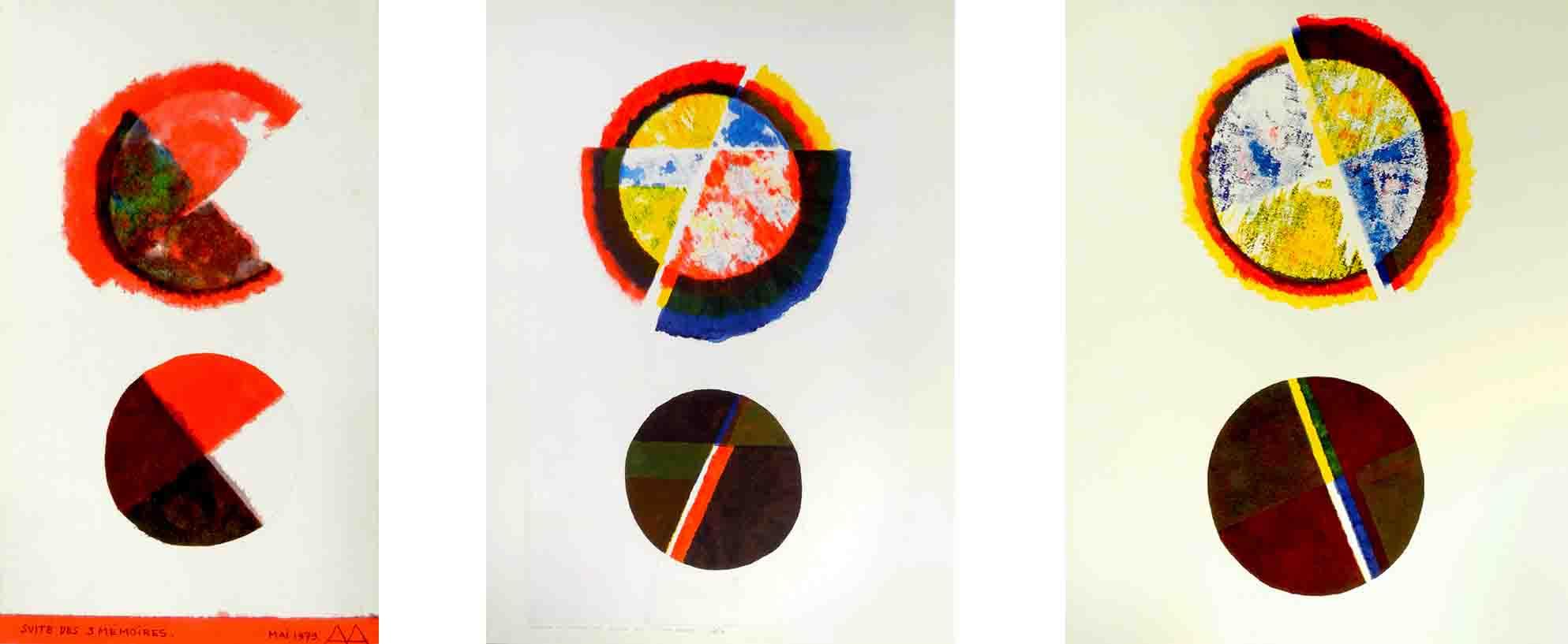 ALBERT AYME - Suite des Trois Mémoires - 3 temps peints - 1980, 1979