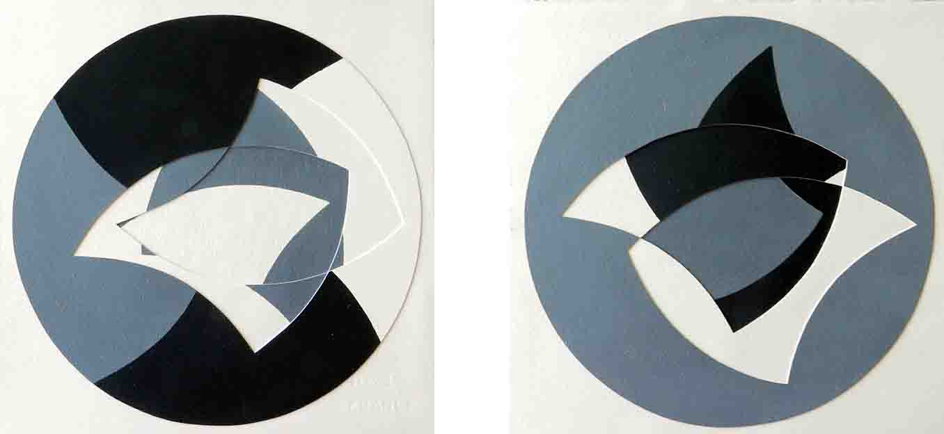 ALBERT AYME - Paradigme 5 - Peints & incisés - 1985