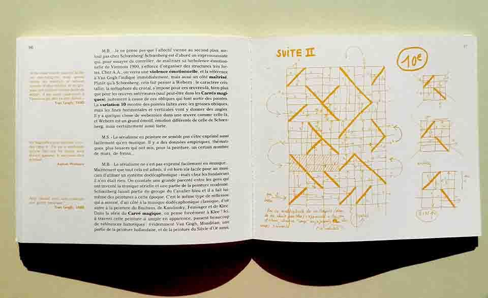 ALBERT AYME - Diagramme de lecture de la structure de la Variation n° 10