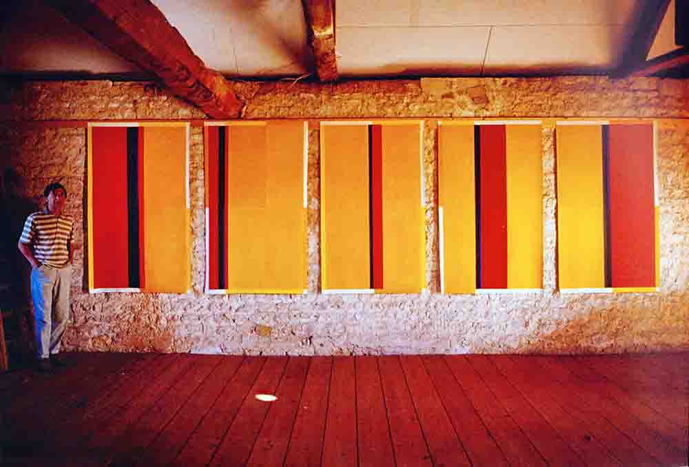 """ALBERT AYME - Albert Ayme devant le  """"Quartette en 5 Mouvements pour Barnett Newman"""" - 1989"""