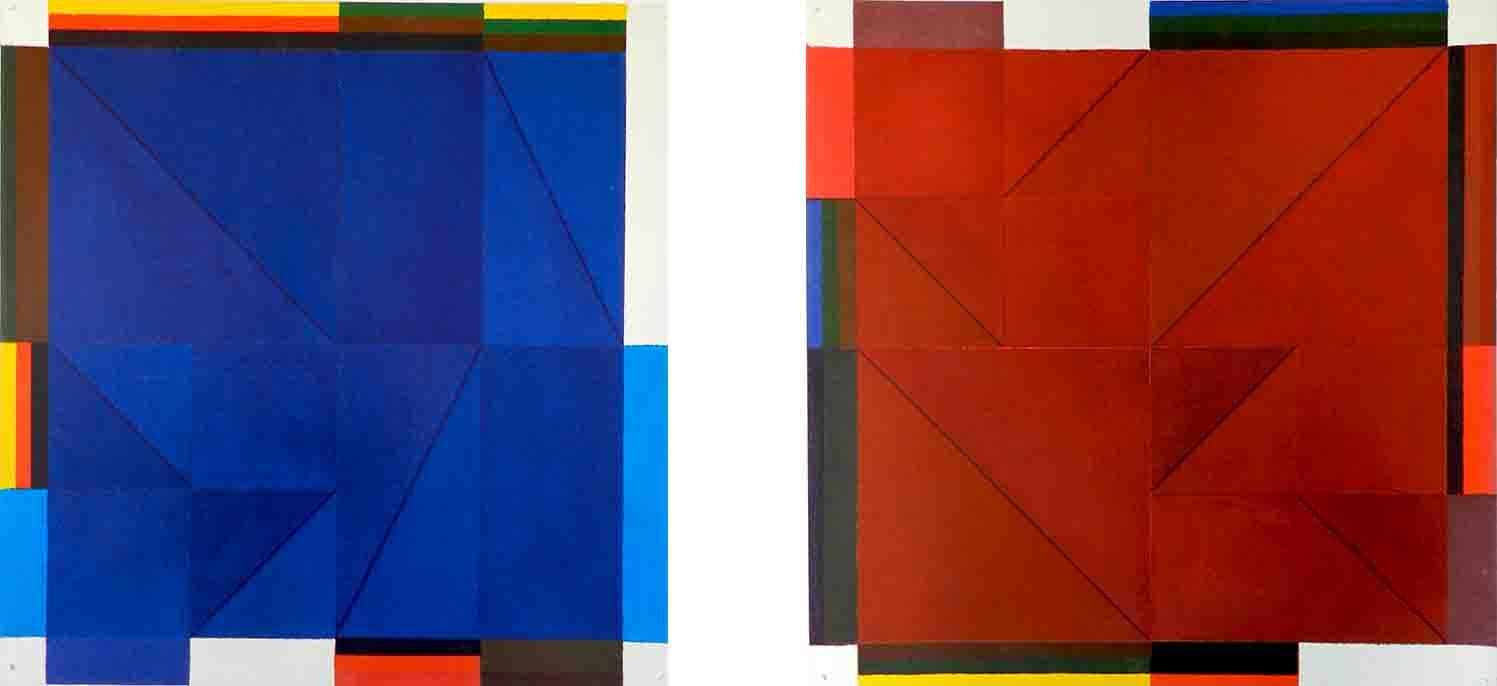 ALBERT AYME - Inventions sur 2 couleurs - Nouvelles gammes - 1999