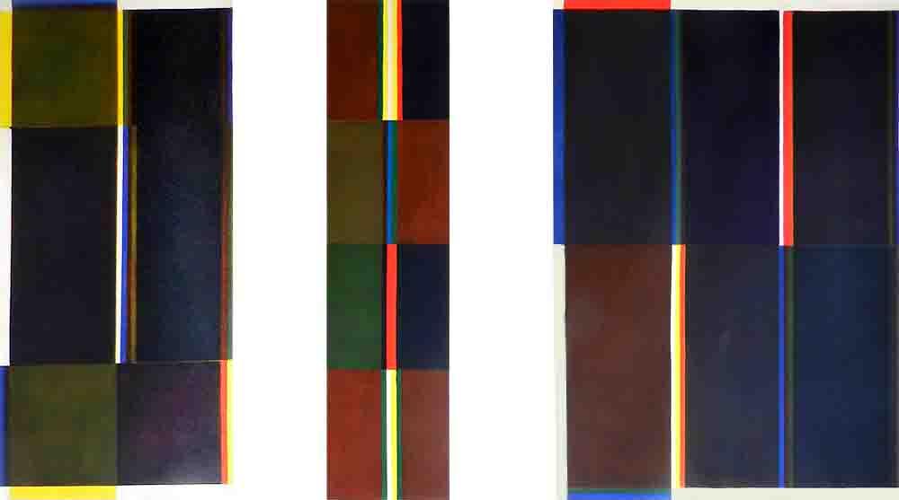 ALBERT AYME - Triptyque du Septantenaire - Scansion des 3 Primaires - 1990