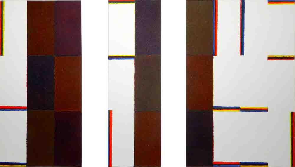 ALBERT AYME - Triptyque du Septantenaire - Scansion des 3 Primaires - 1991