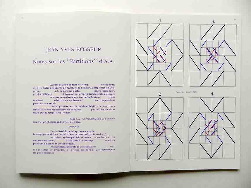 """ALBERT AYME - Page du Livre """"SEPT CHANTS DE TENEBRES"""", Edition Traversière, Paris"""