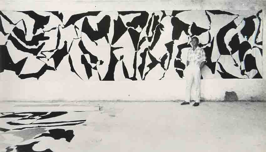 "ALBERT AYME -  Albert AYME devant "" le Dialogue sans fin "" - 1962"